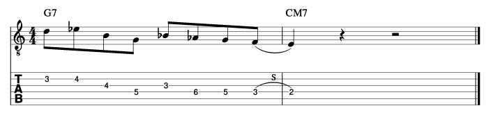 ジョージベンソン風ソロフレーズ5_楽譜