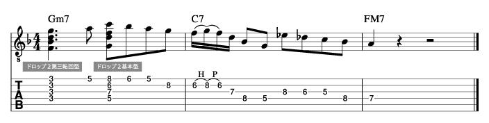 ジョーパス風ソロフレーズ2_楽譜