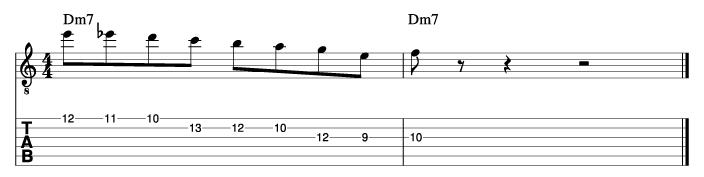 パットマルティーノ風ソロフレーズ2_楽譜