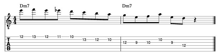 パットマルティーノ風ソロフレーズ3_楽譜