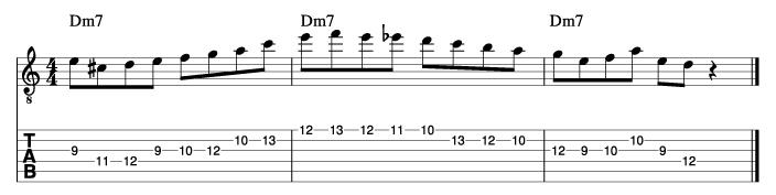 パットマルティーノ風ソロフレーズ4_楽譜