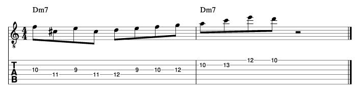 パットマルティーノ風ソロフレーズ6_楽譜