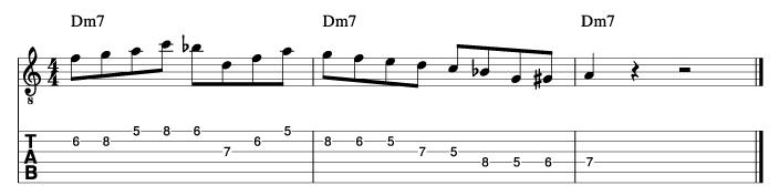 パットマルティーノ風ソロフレーズ7_楽譜